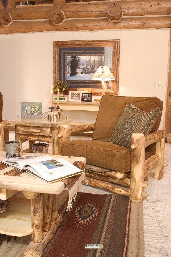 Rustic Log Cabin Style Furniture, Mountain Woods Furniture
