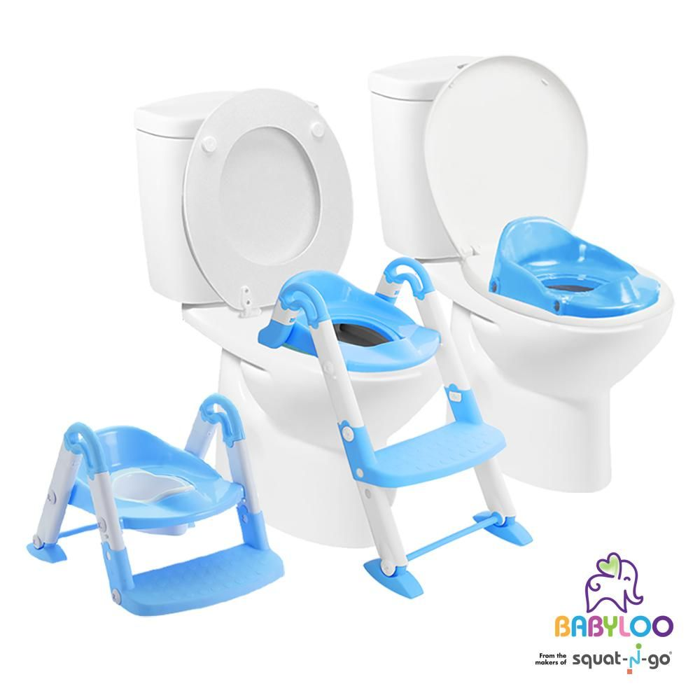 Babyloo 3 In 1 Bambino Booster In Blue Potty Trainer Baby Toilet Baby Equipment