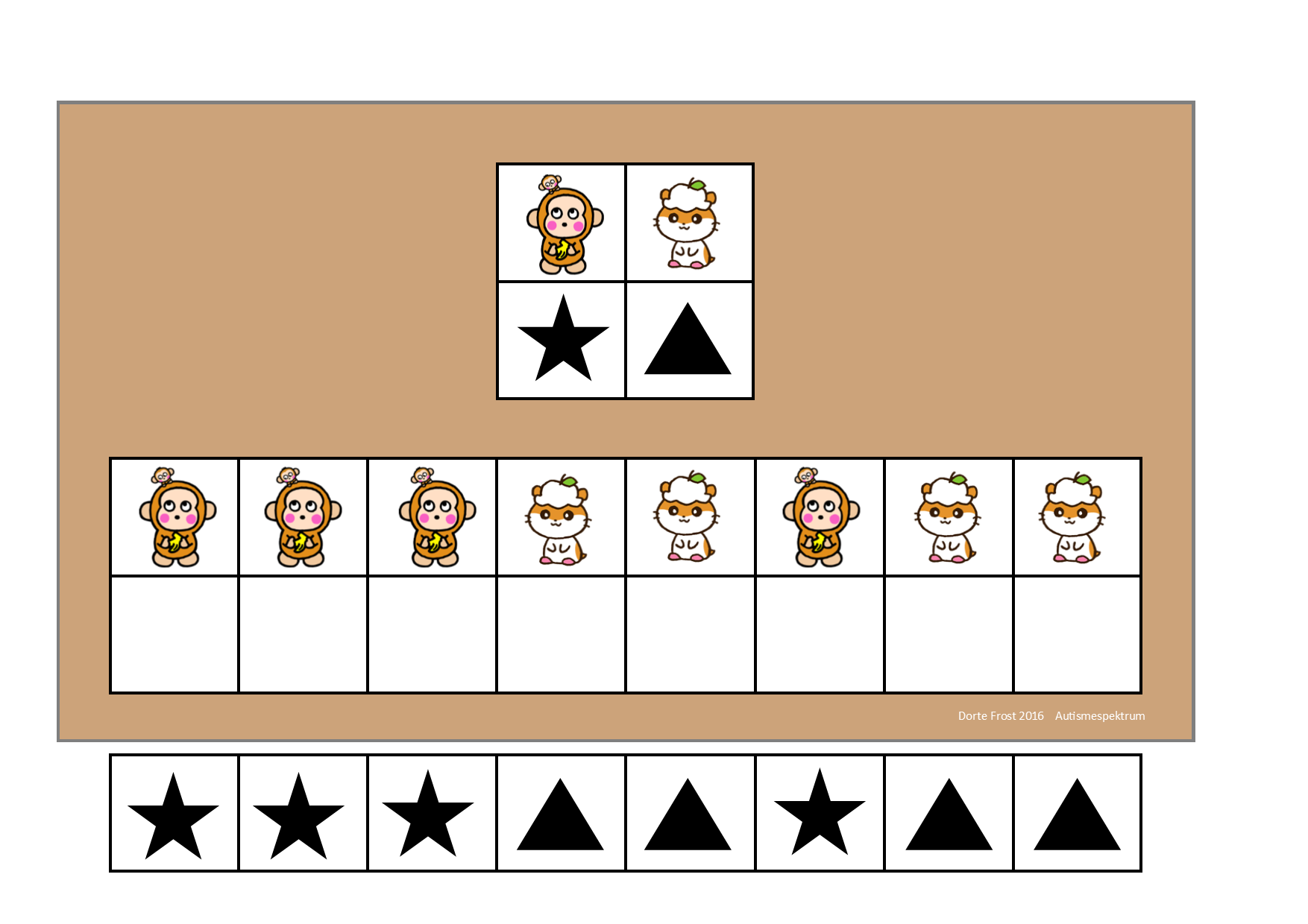 Board And Tiles For The Sanio Visual Perception Game By