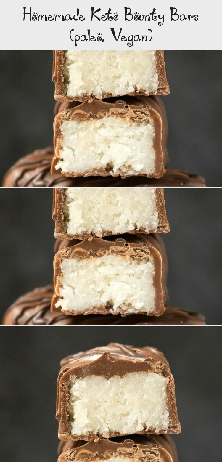 Keto Bounty Bars #health #fitness #nutrition #keto #diet #recipe #HealthDessertsEasy #HealthDesserts...
