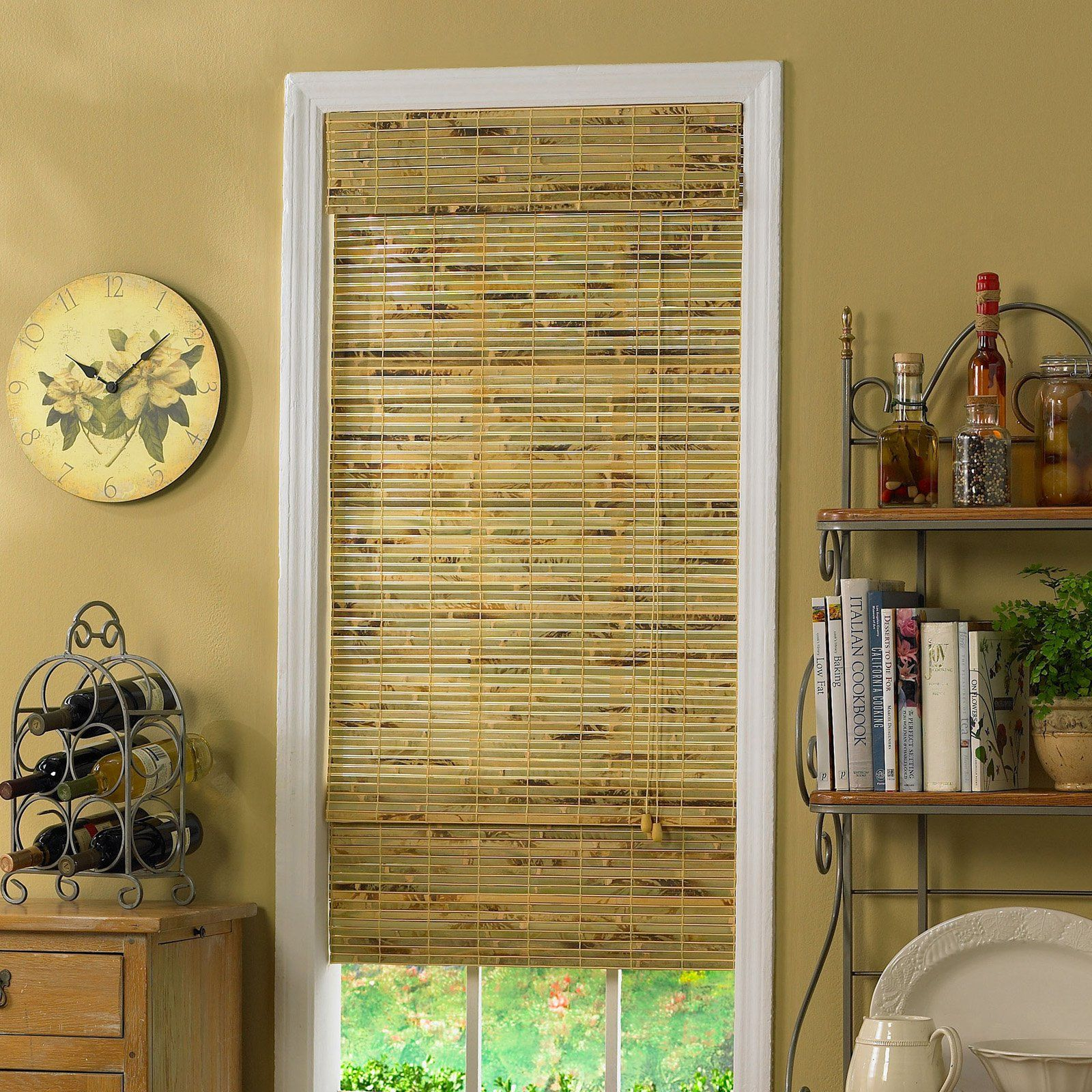 Radiance kona indooroutdoor woven wood bamboo roman shade with in