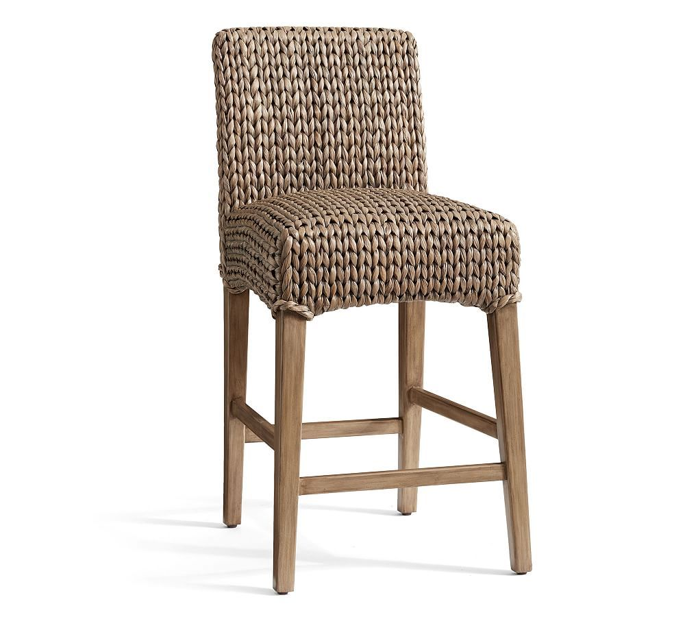 Seagrass Barstool Bar Height Gray Wash Furniture Bar Counter Stools Pottery Barn In 2020 Bar Stools Counter Stools Seagrass Bar Stools