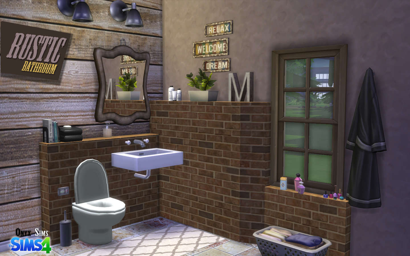 Ts4 Objects Rustic Bathroom Sims Sims 4