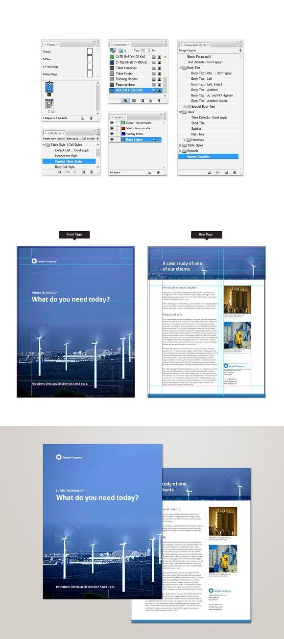 Product Sheet Template For Indesign Brochure Templates Pinterest