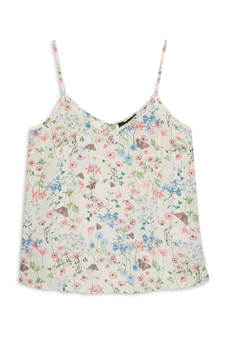 a702aac75c2e2d Floral crepe camal | Primark | Tops, Camisole top, Tank tops
