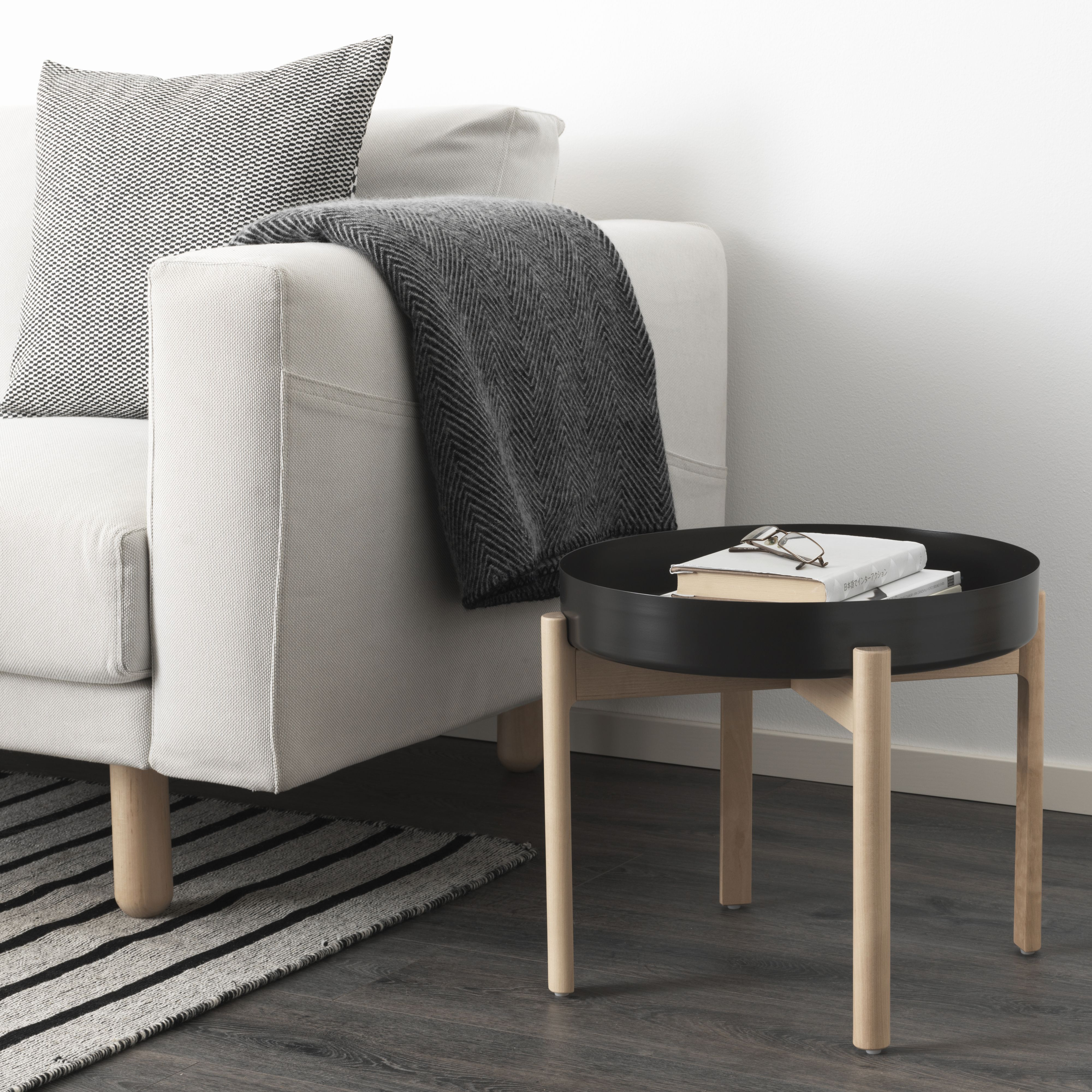 Ypperlig Coffee Table Dark Gray Birch Ikea Stuebord Bordplater Sofabord [ 4000 x 4000 Pixel ]