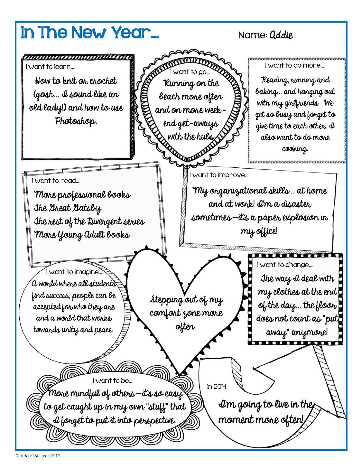 Middle School Worksheets and Printables