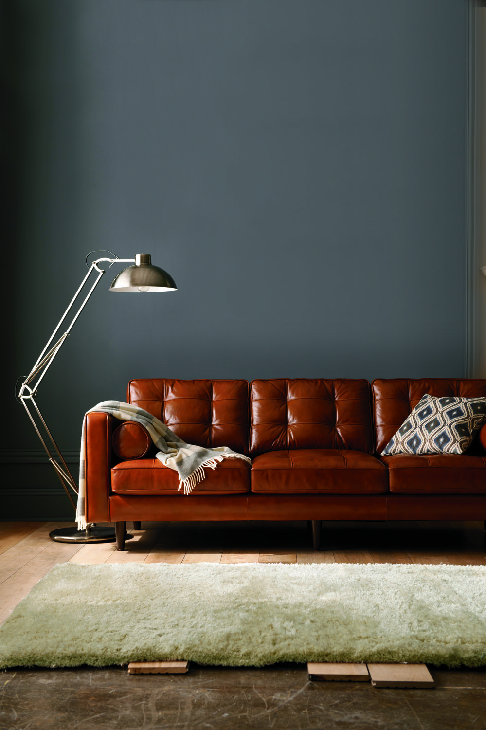 Darrin Leather Sofa Jointed Floor Lamp More