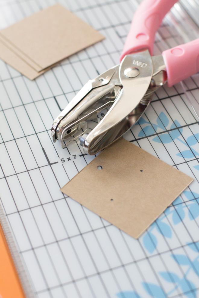 Diy Kraft Paper Earring Display Cards Organized Jewelry Modish And Main