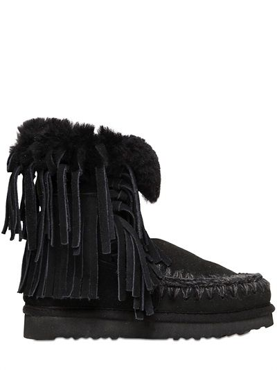 20MM ESKIMO FRINGED SHEARLING BOOTS