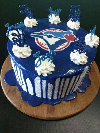 Toronto blue jays cake chocolate fudge with chocolate cream
