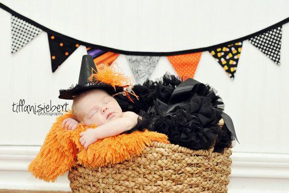 "4' 8"" Halloween Bunting Banner, Halloween Decoration, Photo Prop, Bunting Flags, Garland Orange, Black, Green, Purple. $23.00, via Etsy."