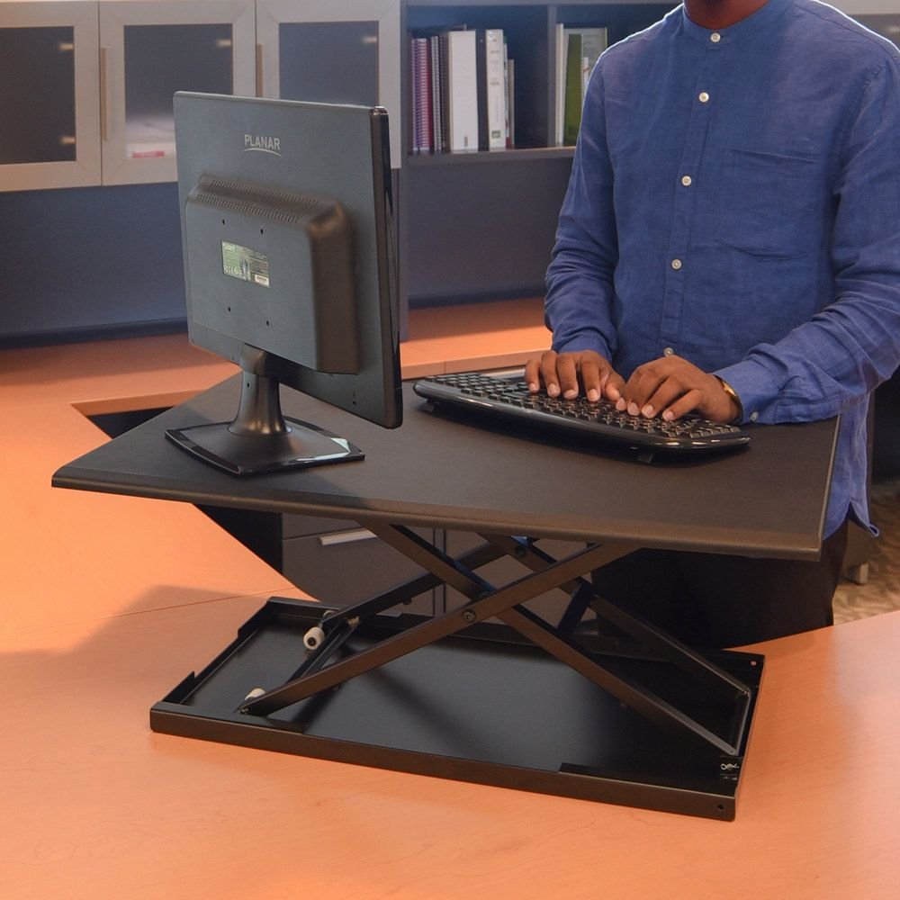 Luxor lvlupbk adjustable stand up desktop desk