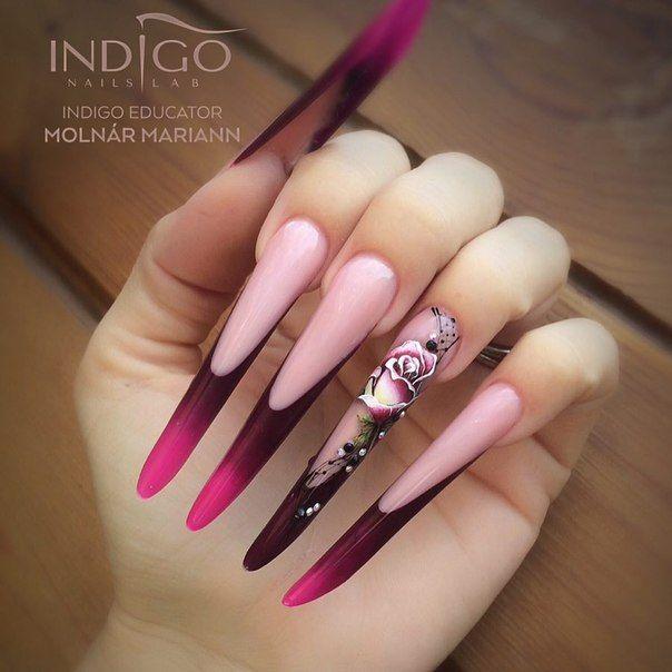 Фотография | Extreme Nails | Pinterest | Long stiletto nails ...