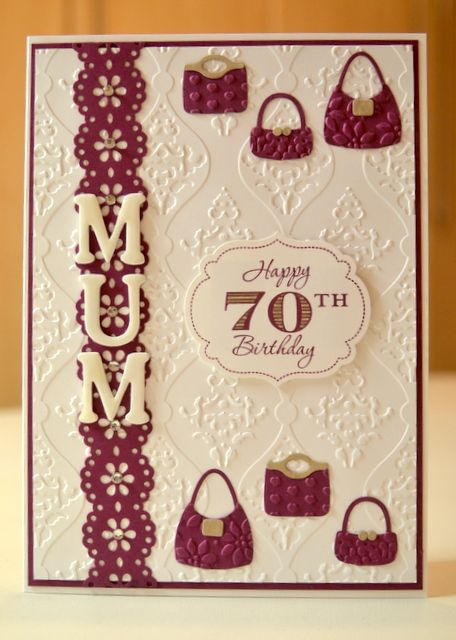 My Friend Wanted A Special Birthday Card For Her Mums 70th Birthday