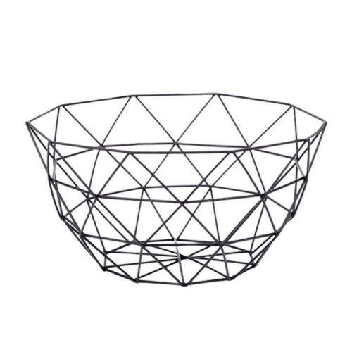 Fruit Basket Metal Wire Bowl Vegetable Rack Storage Stand Holder