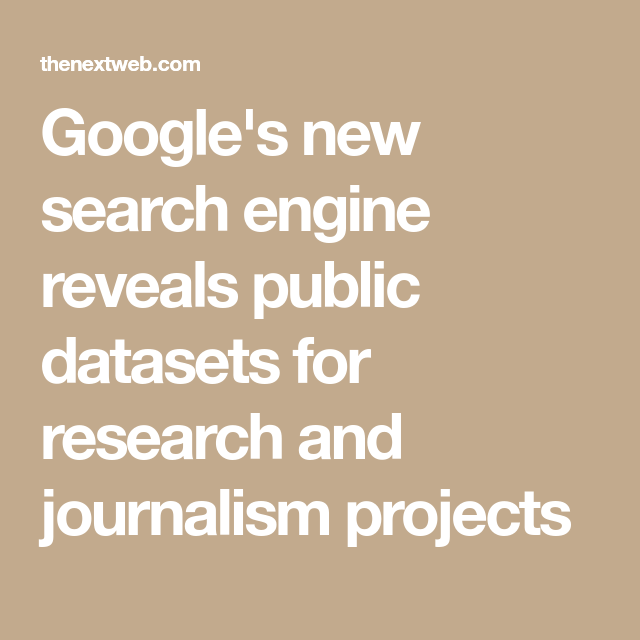 Google's new search engine reveals public datasets for