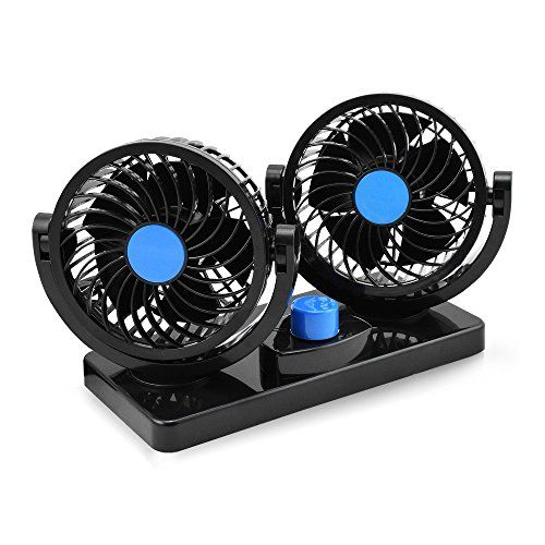 Taotuo 12v Electric Car Fan 360 Degree Rotatable 2 Speed Dual Head Car Auto Cooling Air Circulator Fan For Van Suv Rv Boat Au Electric Car Boat Accessories Car