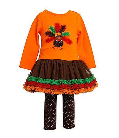 Bonnie Baby Infant Turkey Tutu Dress And Leggings Set