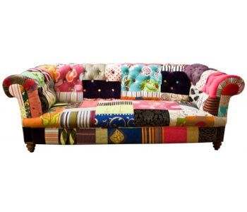 Upcycled Vintage Patchwork Sofa Would Be Awesome In A Craft Room Patchwork Furniture Patchwork Sofa Funky Chairs