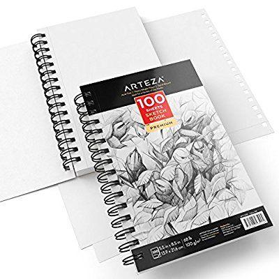 Arteza Croquis Des Livres, Papier a Dessin, Sketch Book - Pad 14 x - dessiner une maison en 3d