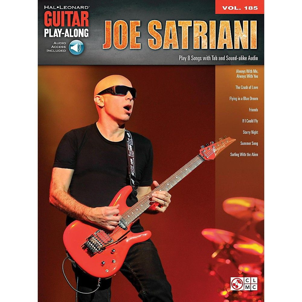 Hal Leonard Joe Satriani Guitar Play Along Vol 185 Book Audio