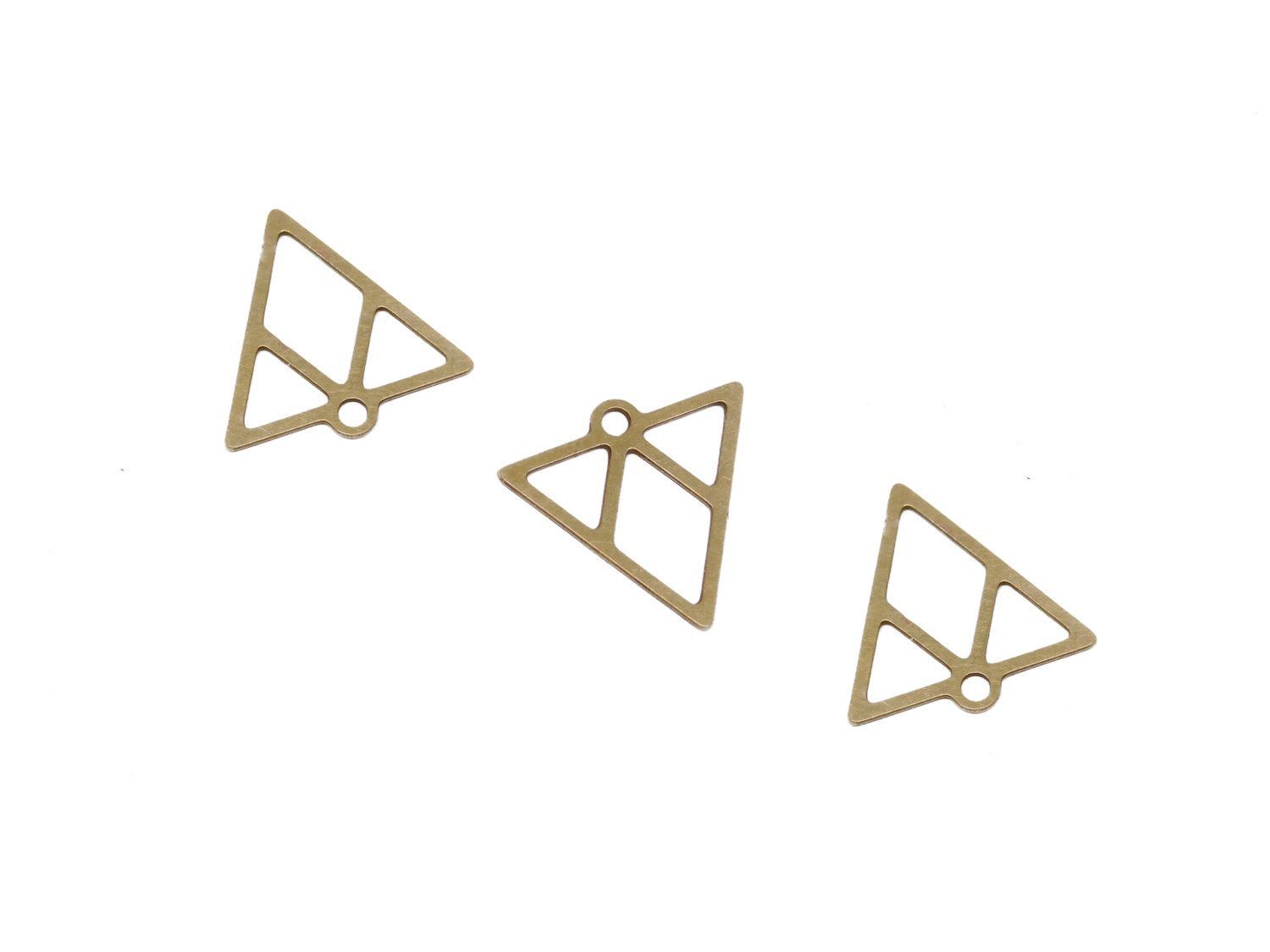 New to GoldieSupplies on Etsy: Raw Brass Triangles 3 Pc Geometric Connector Triangle Link Charm Laser-Cut Pendants Boho Jewelry  Exclusive at Goldie Jewelry Supplies (2.99 USD)