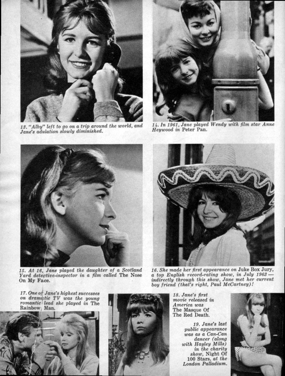 Jane Asher - 16 Magazine - March, 1965