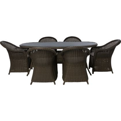 milazzo 6 seater rattan effect garden furniture set
