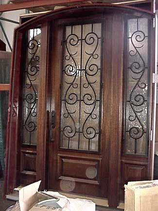 Wood Front Doors With Sidelights Exterior Doors With Sidelights