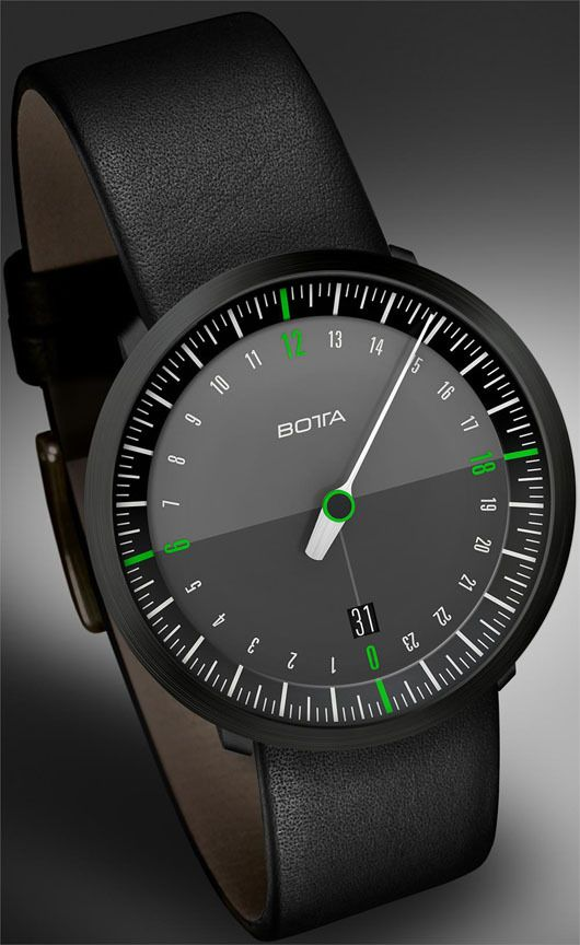 New Botta NEO One Handed 24 Hour Dial Watches. Interesting concept, conversation piece, but I don't think I'd wear it.