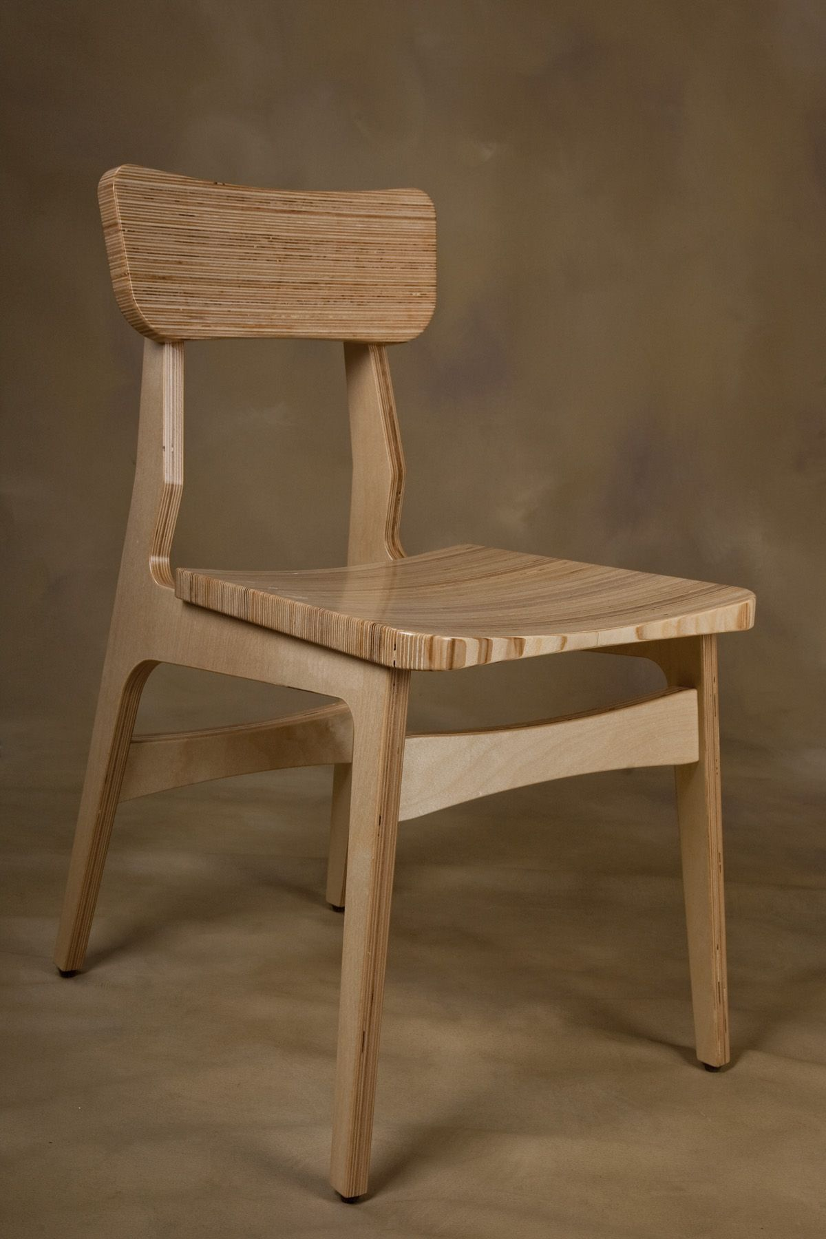 Baltic Birch Plywood Chair By Tyler Morris, Fort Collins Co