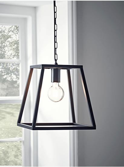 Metal trapeze pendant black 145 london apartment pinterest lights aloadofball Image collections