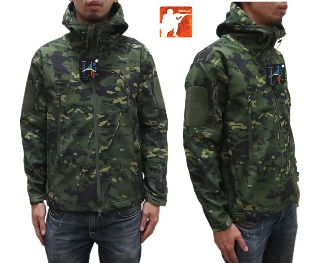 538a6478d234b 2017 MULTICAM TROPIC Waterproof Softshell Tactical Jacket V4 TAD Hunting  Hoodie   Clothing, Shoes & Accessories, Men's Clothing, Coats & Jackets    eBay!