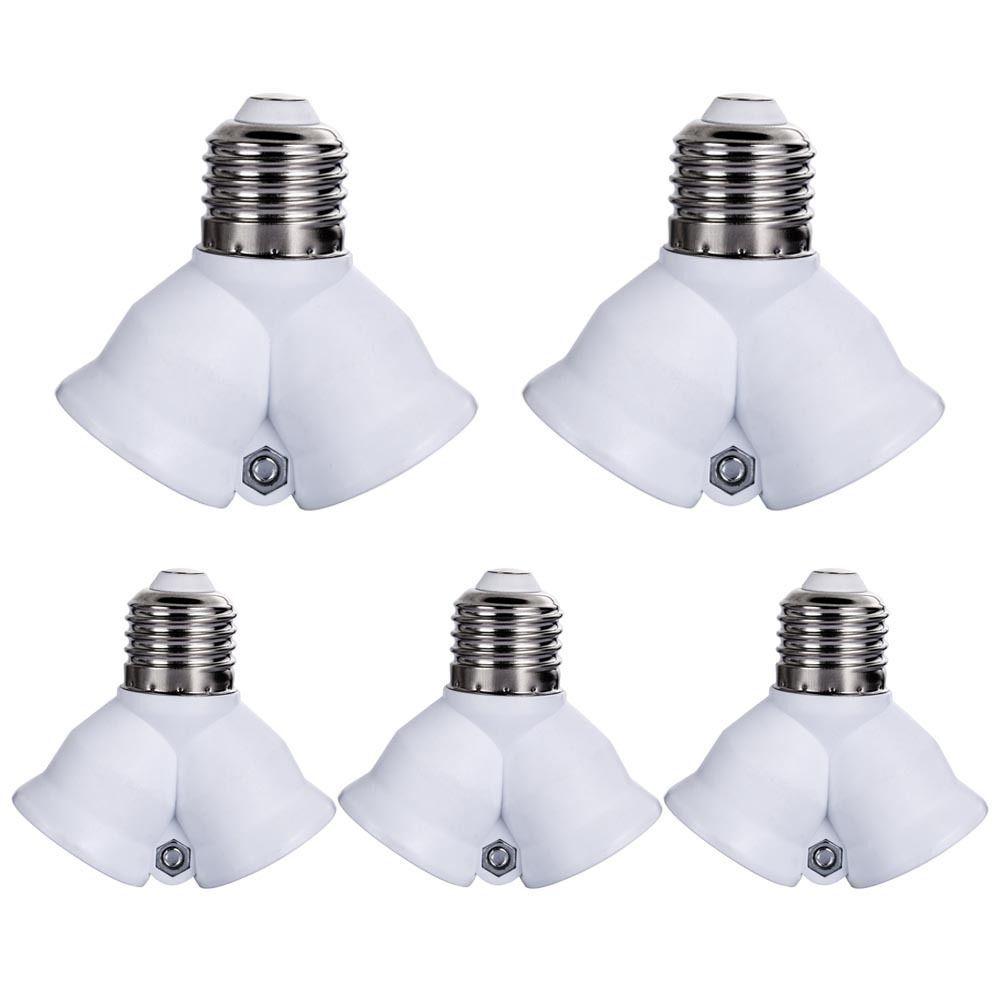 7 14 5pcs E27 Base Led Light Lamp Bulb Socket 1 To 2 Split Splitter Adapter Converter Ebay Home Garden Products Lamp Light Light Bulb Light Bulb B