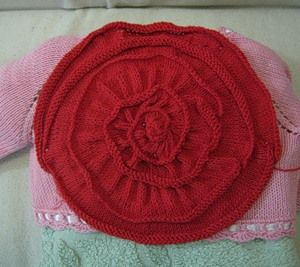 Fabulous rose from Ramon Gurillo - knit bolero and not only ..