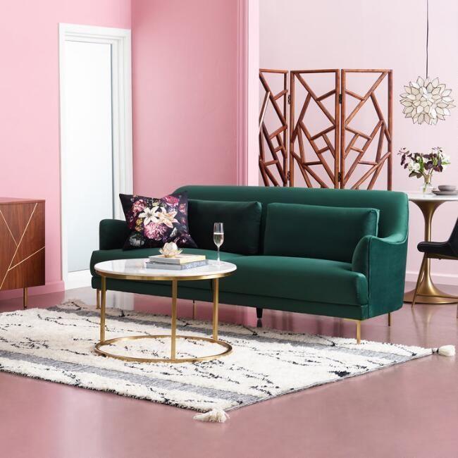 Forest Green Samara Sofa   Cheap living room furniture ...