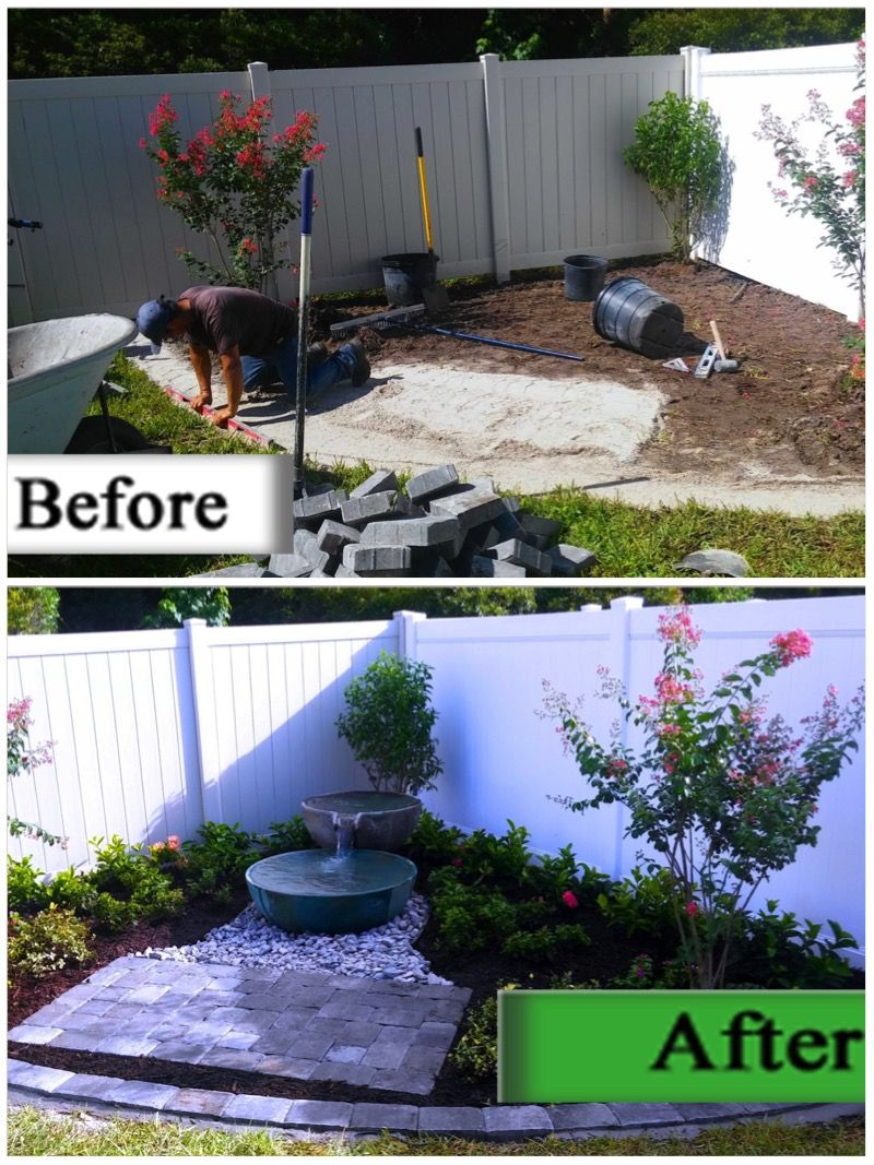 we turned a bare corner into a beautiful backyard landscape with a