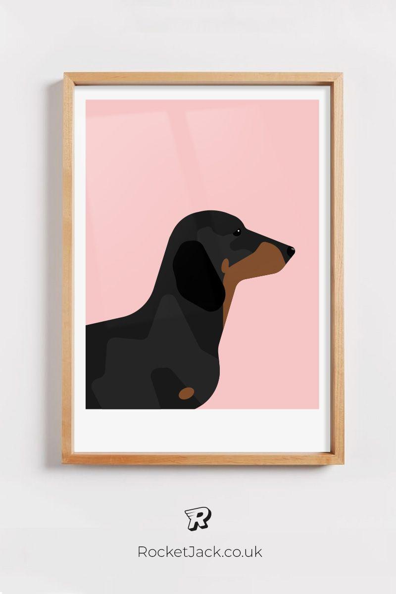 Sausage Dog Print Vintage Magazine Cover Dog Lover Gift Fashion Print Wall Decor Dachshund Print Pet Print Pet Print Dog Wall Art