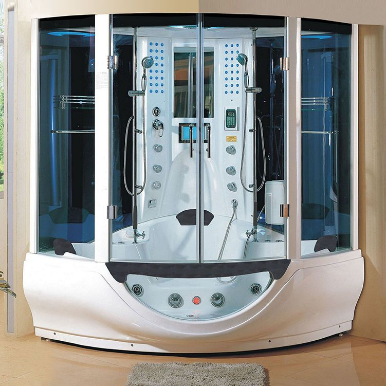New 2014 Computerized Steam Shower Massage Jetted Whirlpool Hot Tub ...