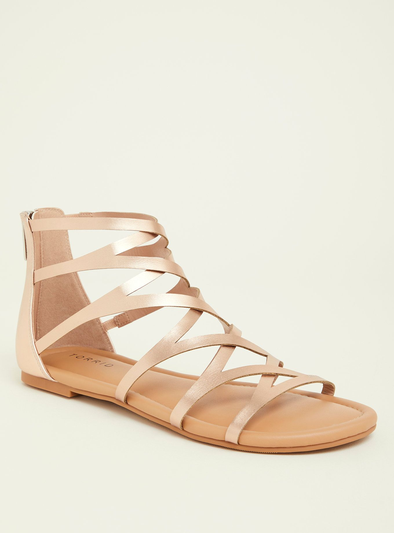 8a86b71bedda Rose Gold Gladiator Sandal (Wide Width) in 2019