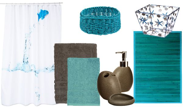 Salle De Bain » Accessoire Salle De Bain Bleu Turquoise - 1000+ ...