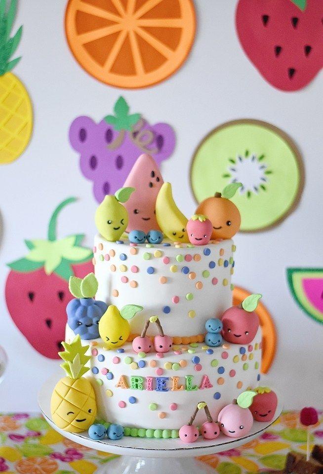 Tutti Frutti Birthday Party Cake Ideas - Twotti Fruity - Pineapple Paper Co.