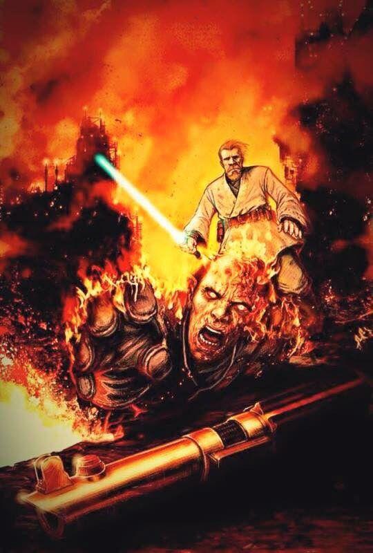 Obi Wan Vs Anakin Star Wars Images Star Wars Awesome Star Wars Art