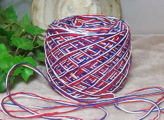 On Sale All Cotton Yankee Doodle Yarn By Recycleandrepurpose 150