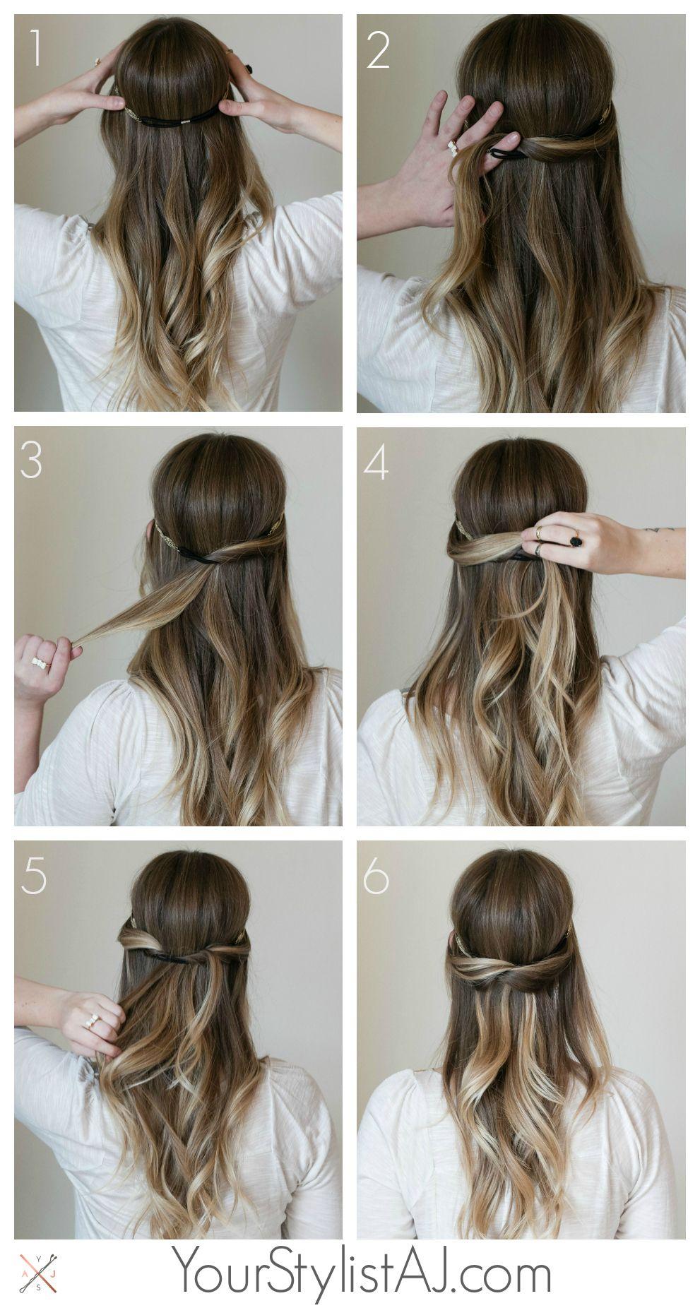 hair tutorial // half up headband | hair | hair styles, hair