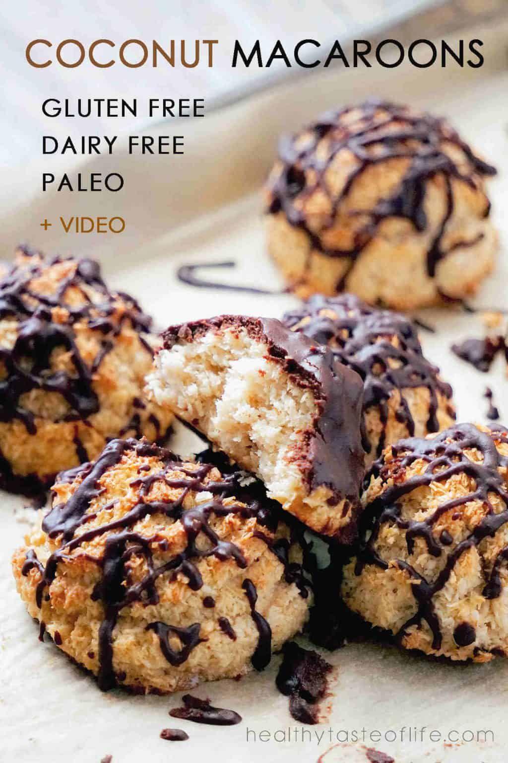 Gluten free coconut macaroons dairy free paleo recipe