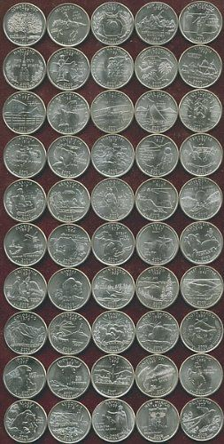 P Complete UNC State Quarter Coin Set Dollar Deal - Complete 50 state quarter set