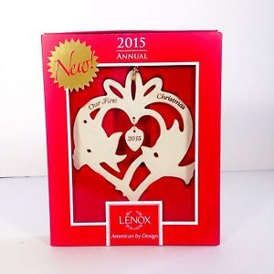 Lenox 2015 Our First Christmas Together Doves Ornament 853552