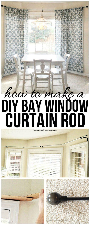 Diy Bay Window Curtain Rod For Less Than 10 Kelly Leigh Creates